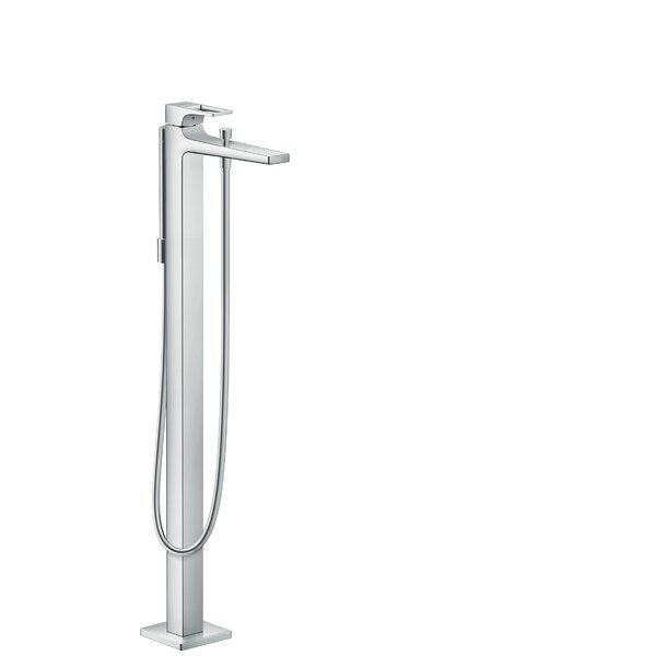 Metropol Single Handle Deck Mounted Freestanding Tub Filler Trim with Hand Shower by Hansgrohe Hansgrohe