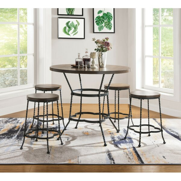 Corry 5 Piece Counter Height Dining Set by Millwood Pines