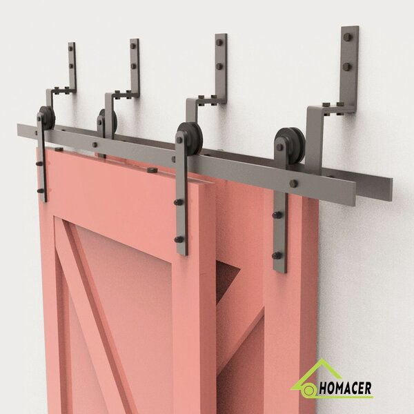 Straight Strap Barn Door Hardware by Homacer
