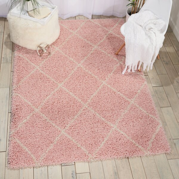 Puyallup River Blush Area Rug by Red Barrel Studio
