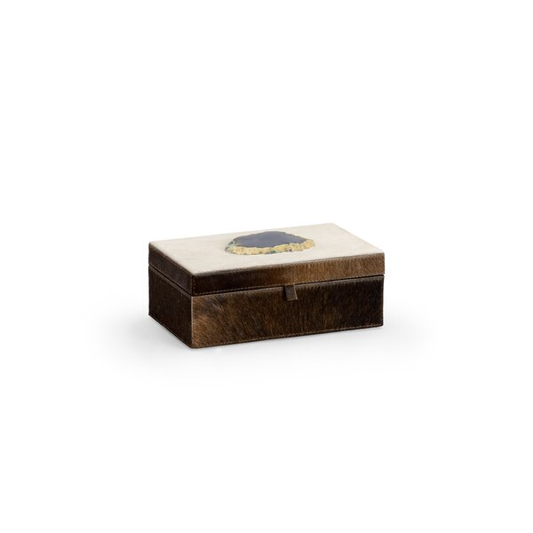 Hair on Hide Agate Decorative Box by Wildwood