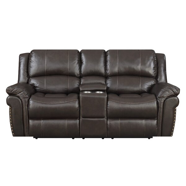 Everardo Reclining Leather Loveseat by Darby Home Co
