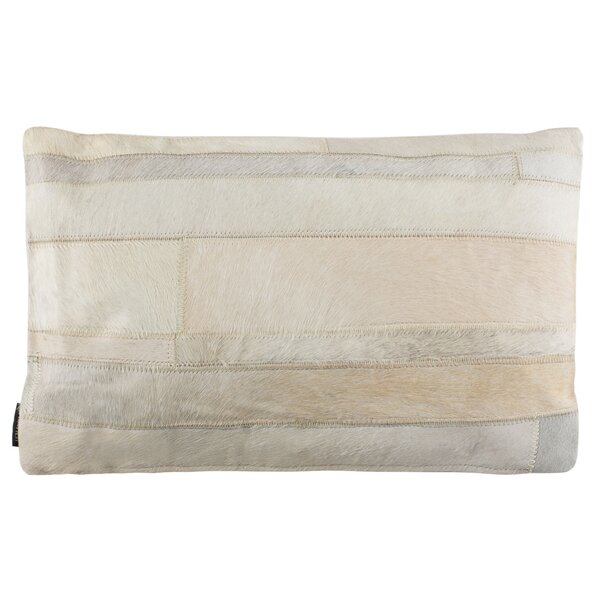 Leech Ruled Cowhide Throw Pillow by Union Rustic