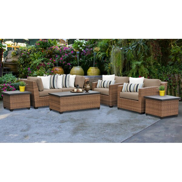 Medina 7 Piece Sofa Seating Group with Cushions by Rosecliff Heights