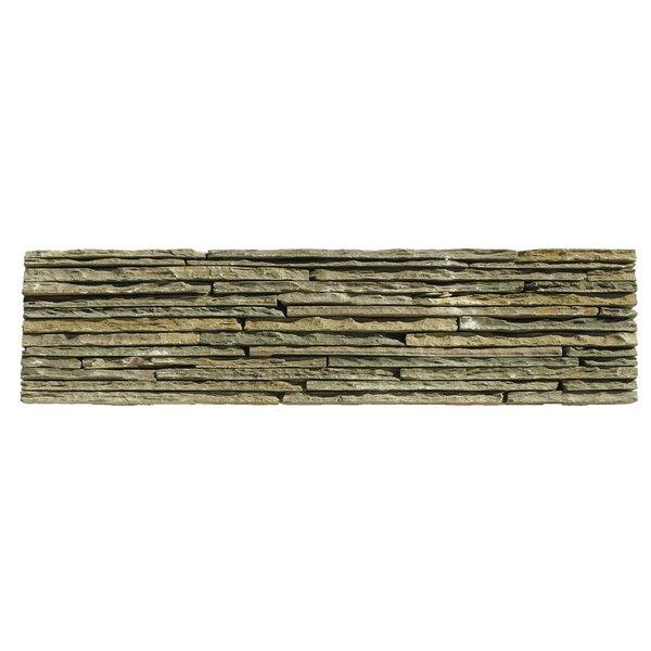 Portico Slate Random Sized Stone Splitface Tile in Dark Green by Solistone