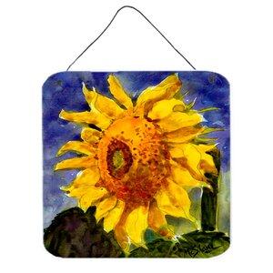 Flower Sunflower Painting Print Plaque by Caroline's Treasures