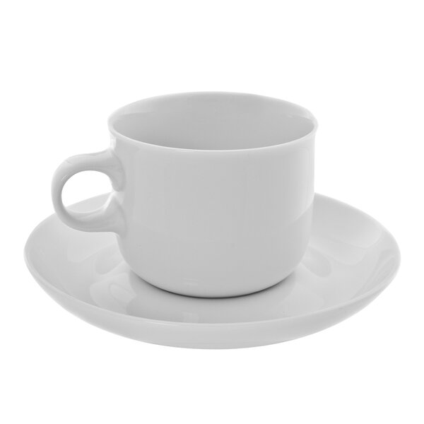 Tavola 6 oz. Teacup and Saucer (Set of 6) by Ten Strawberry Street