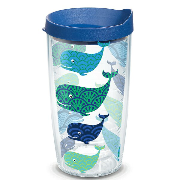Sun and Surf Whale Plastic Travel Tumbler by Tervis Tumbler