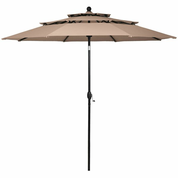 Ieuan 3 Tier Patio Sunshade Shelter Beach Umbrella by Ebern Designs