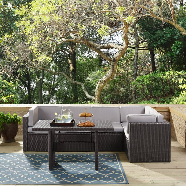 Spohn 6 Piece Sectional Seating Group with Cushions by Ivy Bronx