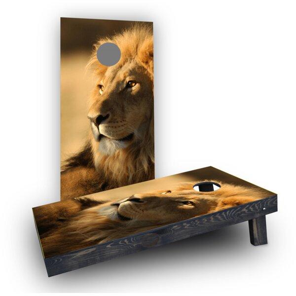 Laying Lion Cornhole Boards (Set of 2) by Custom Cornhole Boards