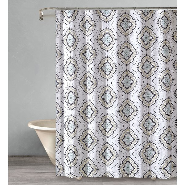 Crick Star Cotton Shower Curtain by Bungalow Rose