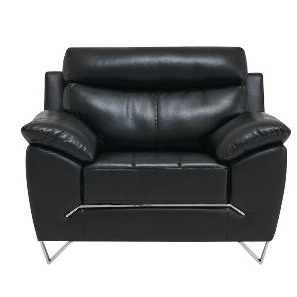 Asht Leather Gel Armchair By Orren Ellis