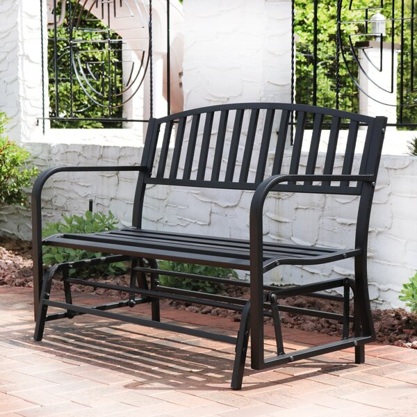 Tomasello Loveseat Glider Bench by Charlton Home