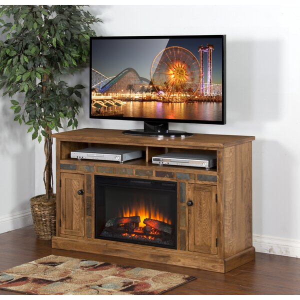 Fresno  54 TV Stand with Fireplace by Loon Peak