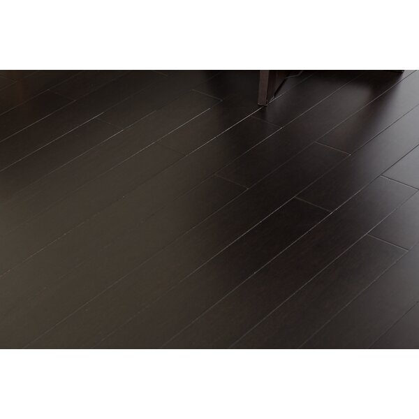3-6/7 Solid Strandwoven Bamboo Flooring in Ebony Night by ECOfusion Flooring
