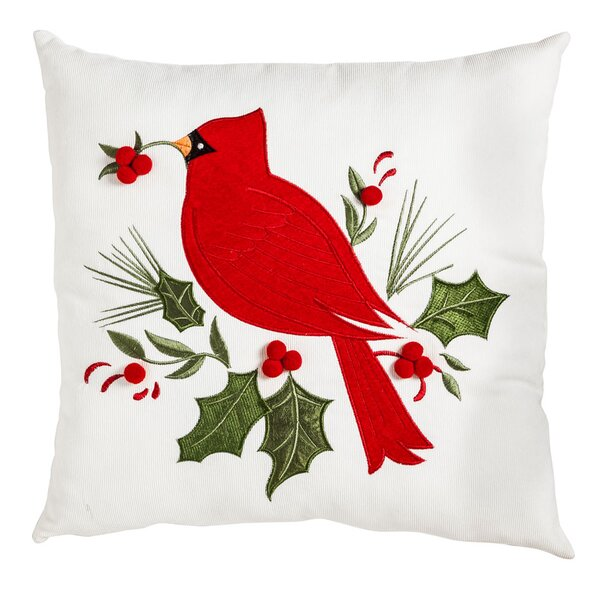 Braesgate Holiday Cardinal Outdoor Throw Pillow by Three Posts