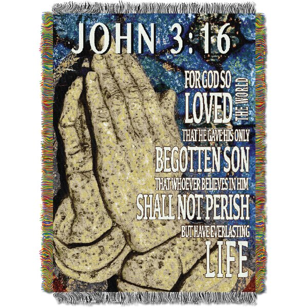 John 3:16 Tapestry Throw by Northwest Co.