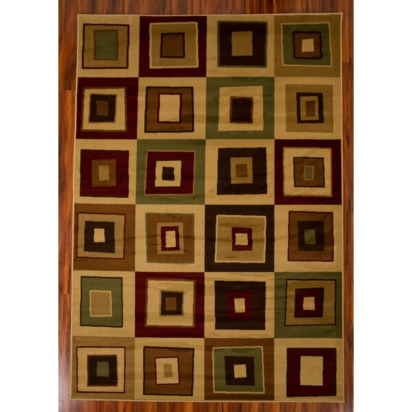 Chase Square 1606 Brown/Beige Area Rug by Ebern Designs