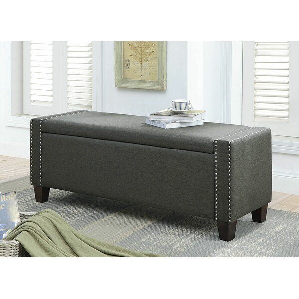 Midhurst Upholstered Flip Top Storage Bench by Canora Grey