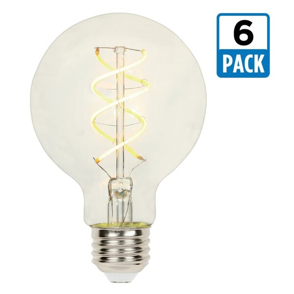 5W E26 Dimmable LED Edison Globe Light Bulb (Set of 6) (Set of 6) by Westinghouse Lighting