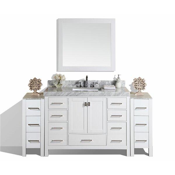Laub 85 Single Bathroom Vanity Set with Mirror by House of Hampton