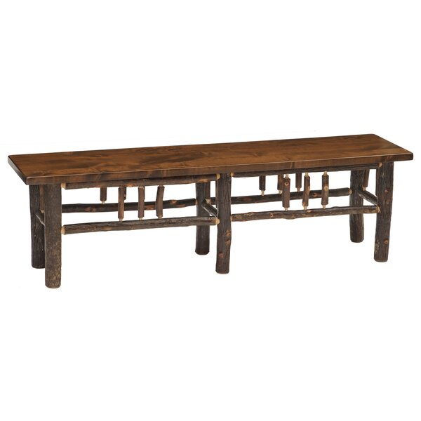 Hickory Wood Bench by Fireside Lodge