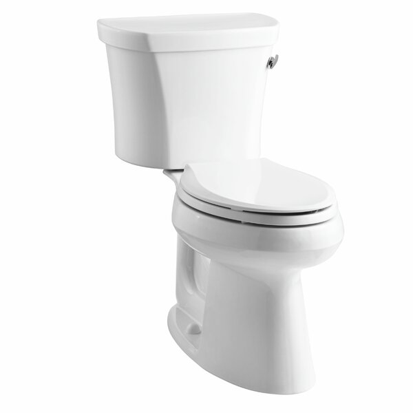 Highline Comfort Height Two-Piece Elongated 1.28 GPF Toilet with Class Five Flush Technology, Right-Hand Trip Lever and Tank Cover Locks by Kohler