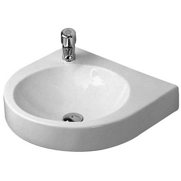 Architec Ceramic 23 Wall Mount Bathroom Sink with Overflow by Duravit