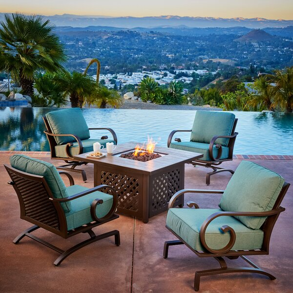 Kingston Seymour 5 Piece Conversation Set with Cushions by Bayou Breeze