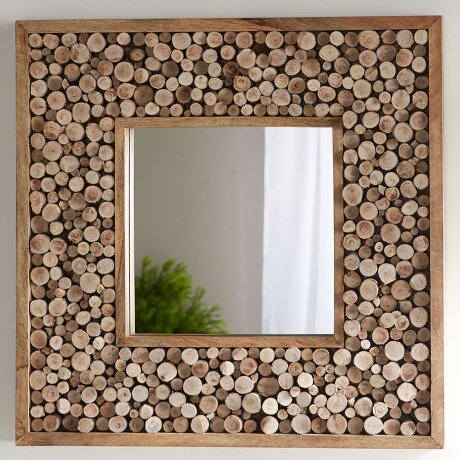 Sliced Wood Wall Mirror by VivaTerra