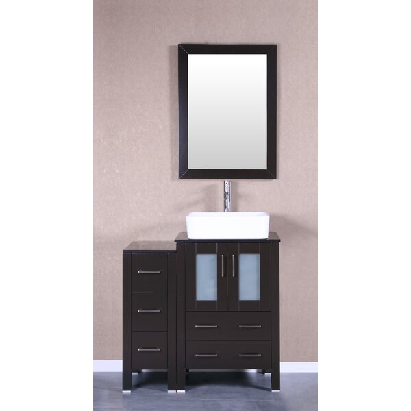 Stella 36 Single Bathroom Vanity Set with Mirror by Bosconi
