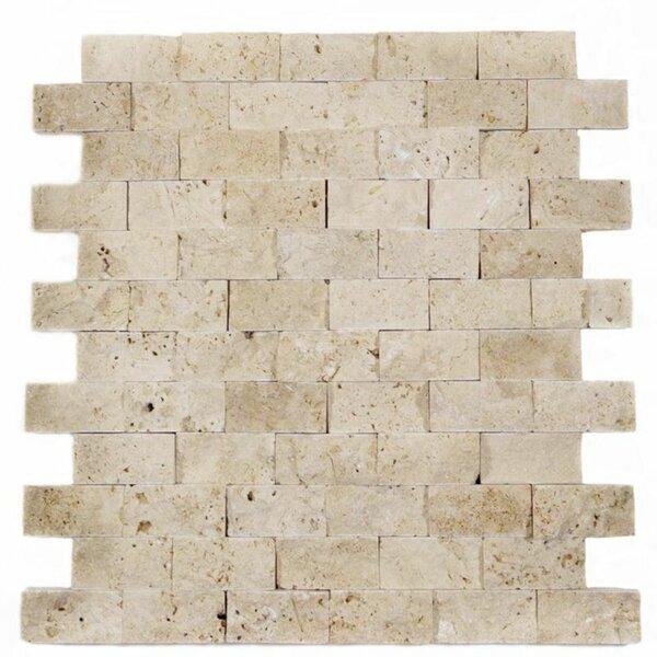 1 x 2 Travertine Brick Joint Mosaic Wall & Floor Tile
