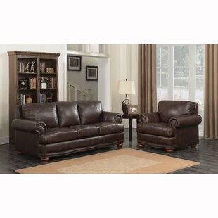 Wakerobin 2 Piece Leather Living Room Set