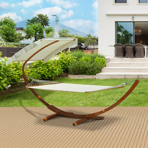 Derek Hanging Chaise Lounger with Stand by Freeport Park