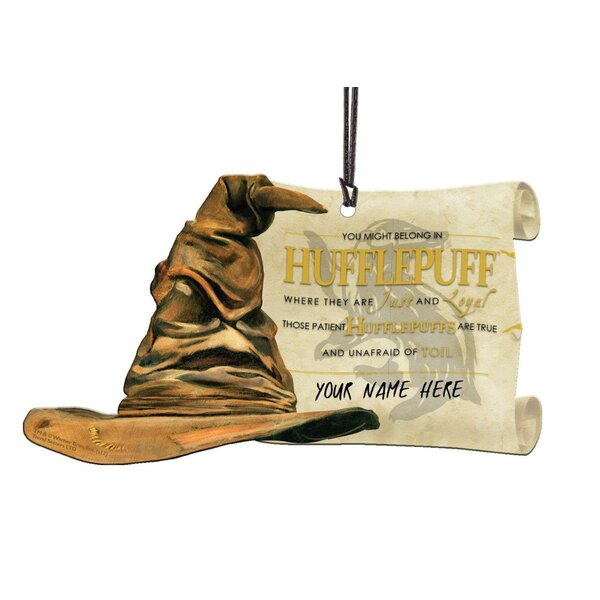 Harry Potter Sorting Hat Hufflepuff Personalized Hanging Acrylic Shaped Ornament by Trend Setters