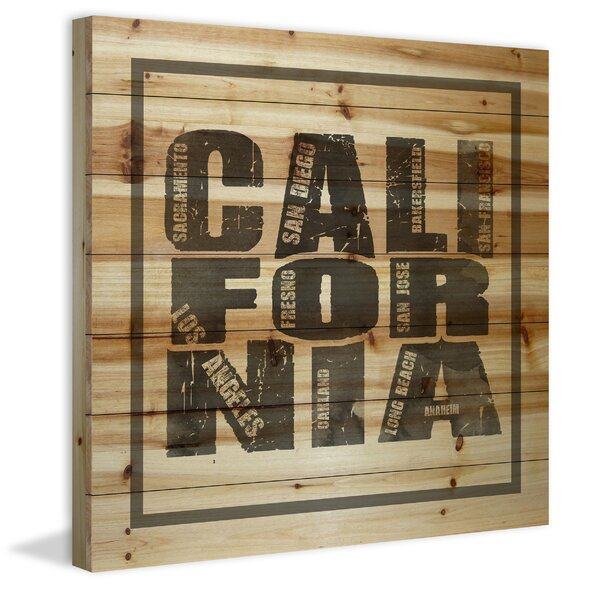 Natural California Textual Art on Wood by Marmont Hill