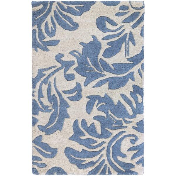 Diana Hand-Woven Denim/Cream Area Rug by Birch Lane™