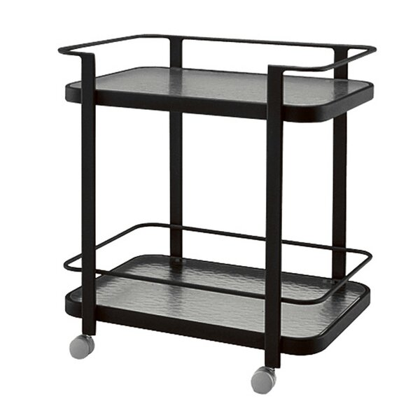 Aluminum Occasional Bar Cart by Woodard