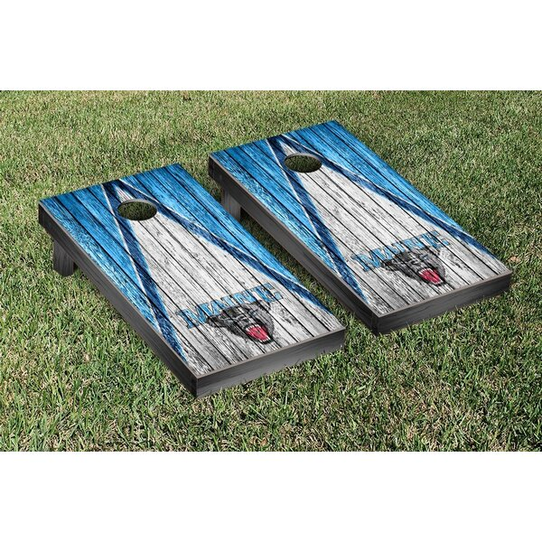 NCAA Triangle Weathered Version Cornhole Game Set by Victory Tailgate