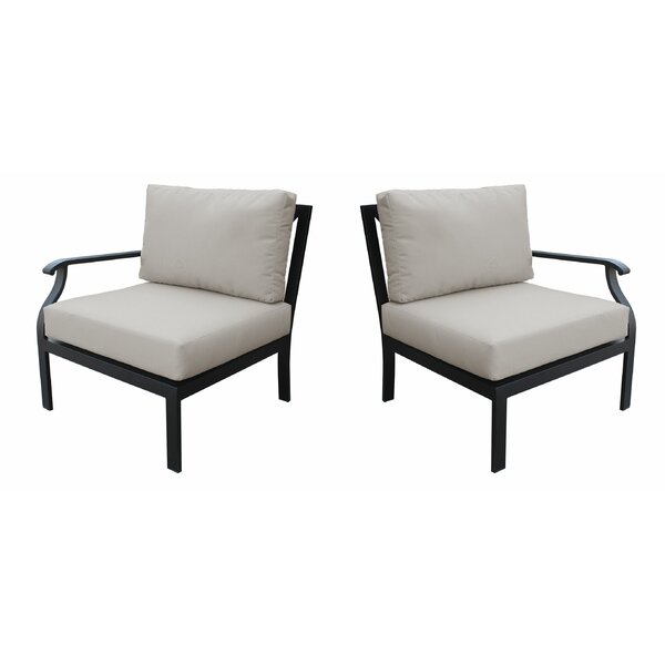 Madison Left and Right Hand Patio Chair with cushions by kathy ireland Homes & Gardens by TK Classics