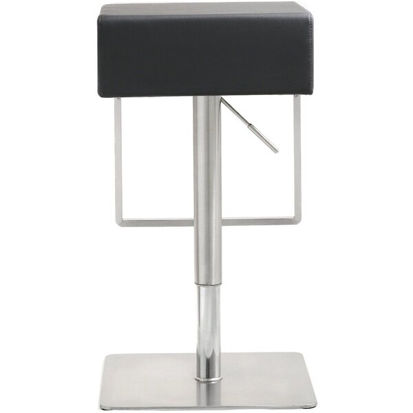Hatmaker Adjustable Height Swivel Bar Stool by Orren Ellis