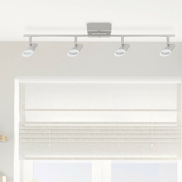 Delphine LED Integrated 4-Light Track Lighting Kit by Globe Electric Company