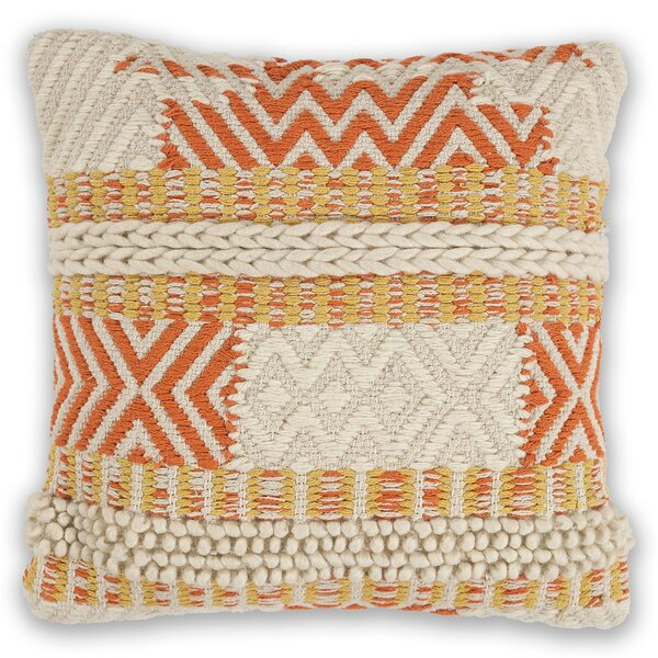 Crotts Wool Throw Pillow by Bungalow Rose