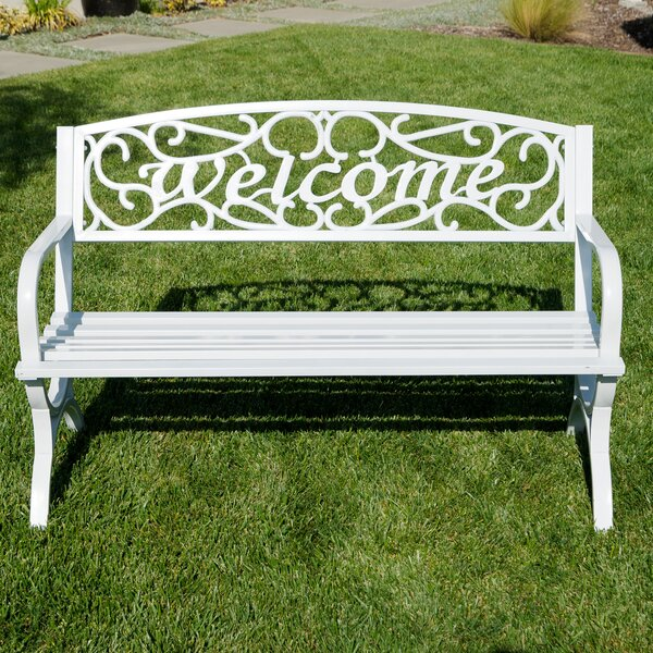 Outdoor Metal Park Bench by Belleze