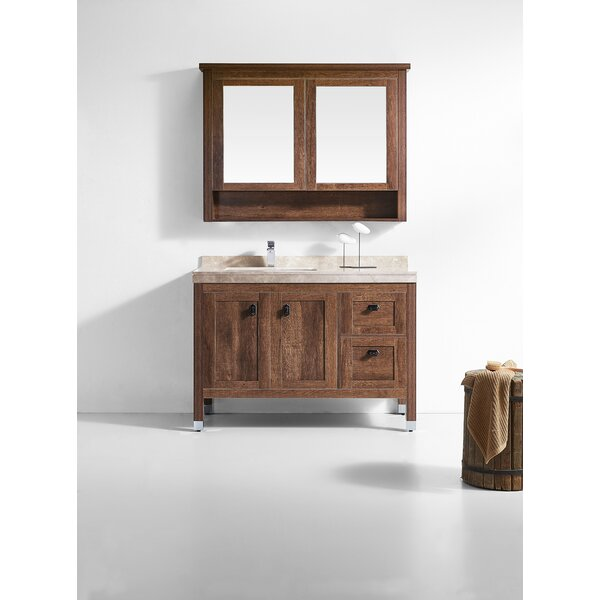 Jolly 48 Single Bathroom Vanity Set with Mirror by Loon Peak