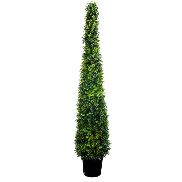 Artificial Cypress Leave Tower Cone Topiary Floor Cedar Tree in Pot by Darby Home Co
