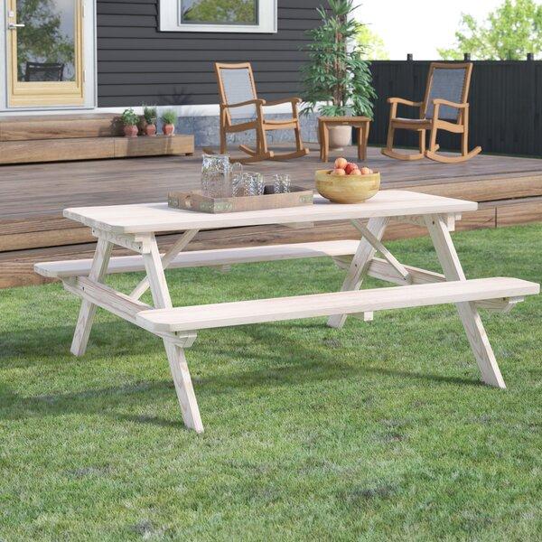 Sinopah Solid Wood Picnic Table By Loon Peak