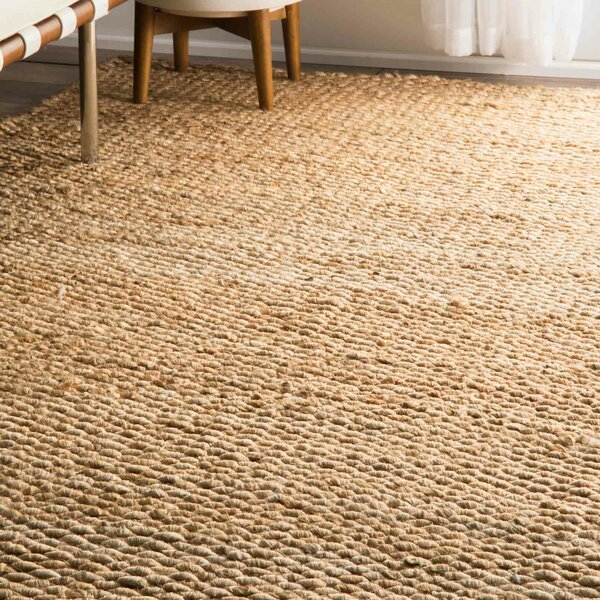 Southold Hand-Woven Brown Area Rug by Beachcrest Home