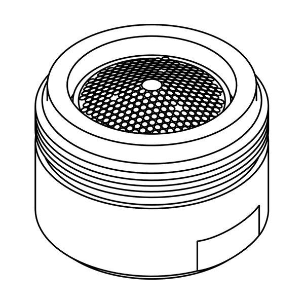 0.81-27 Male Thread 0.5 GPM Spray Pattern Aerator by Central Brass